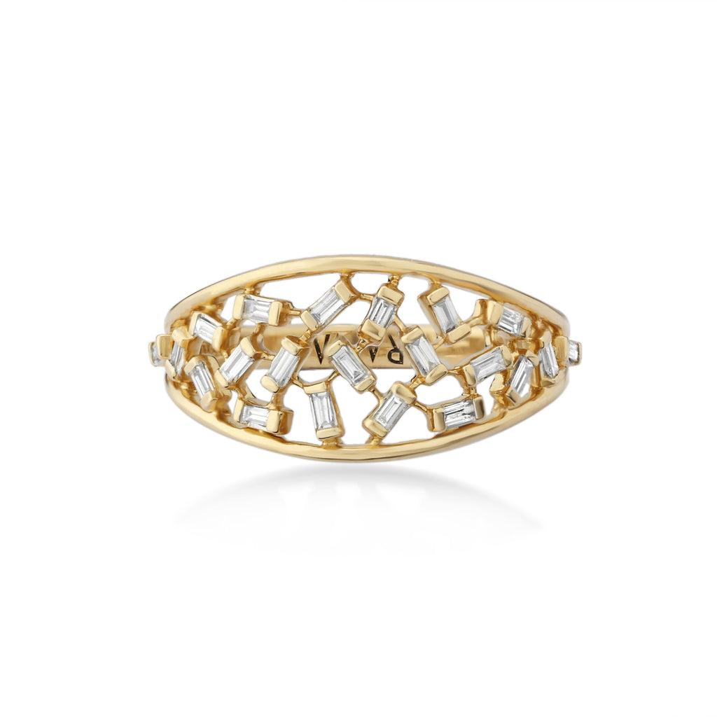 Scatter Waltz Zig-Zag Diamond Ring