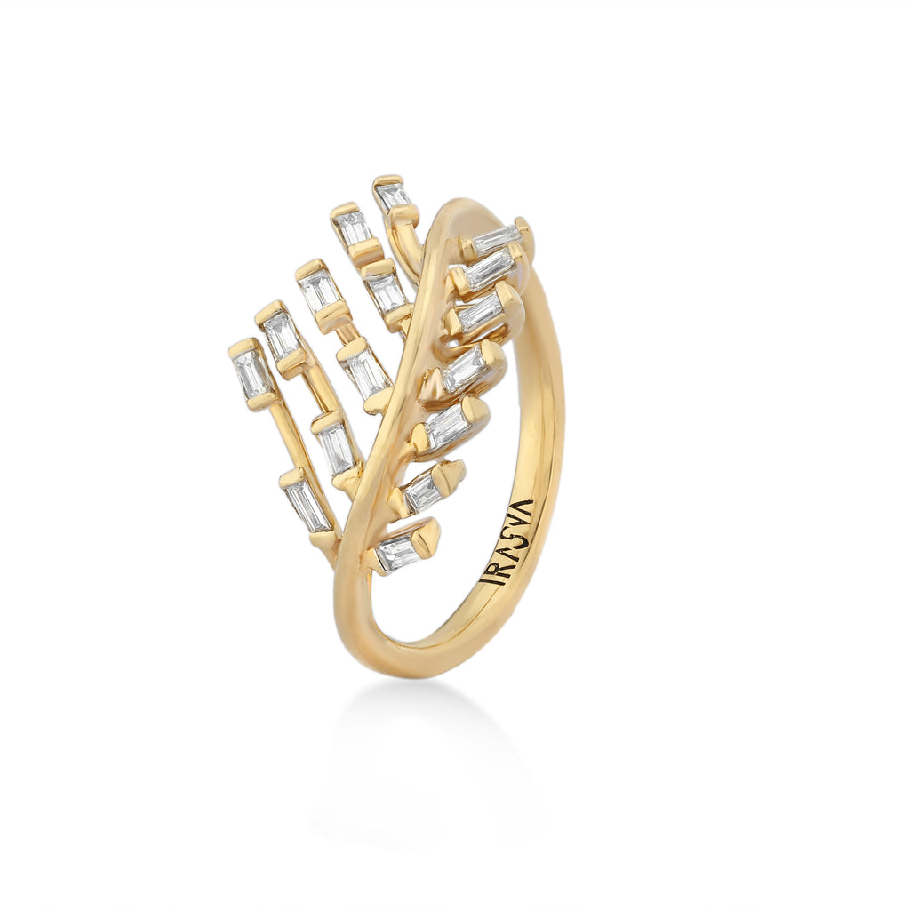 Scatter Waltz Chevron Diamond Ring