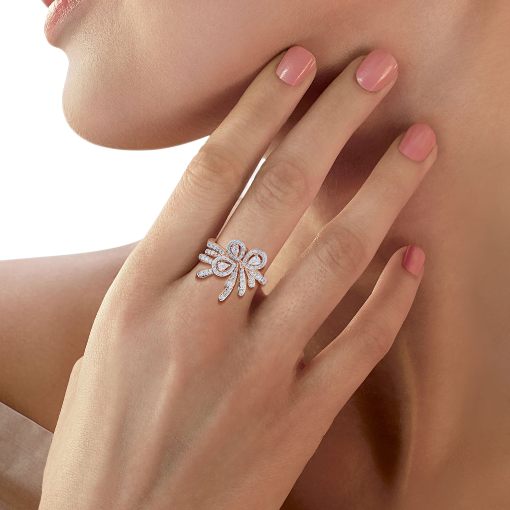 Skyward Bound Humming Bird Diamond Ring