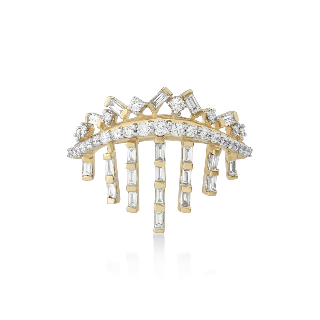Freeflowing Rays Diamond Ring