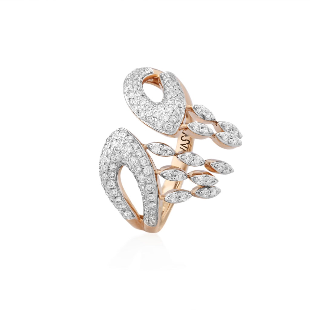 Freeflowing Flux Diamond Ring