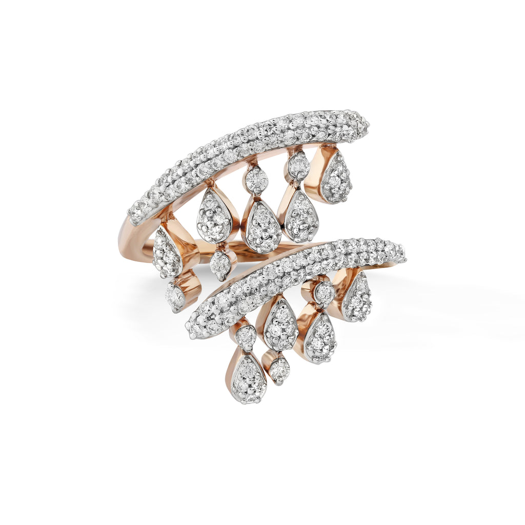 Freeflowing Swirl Diamond Ring