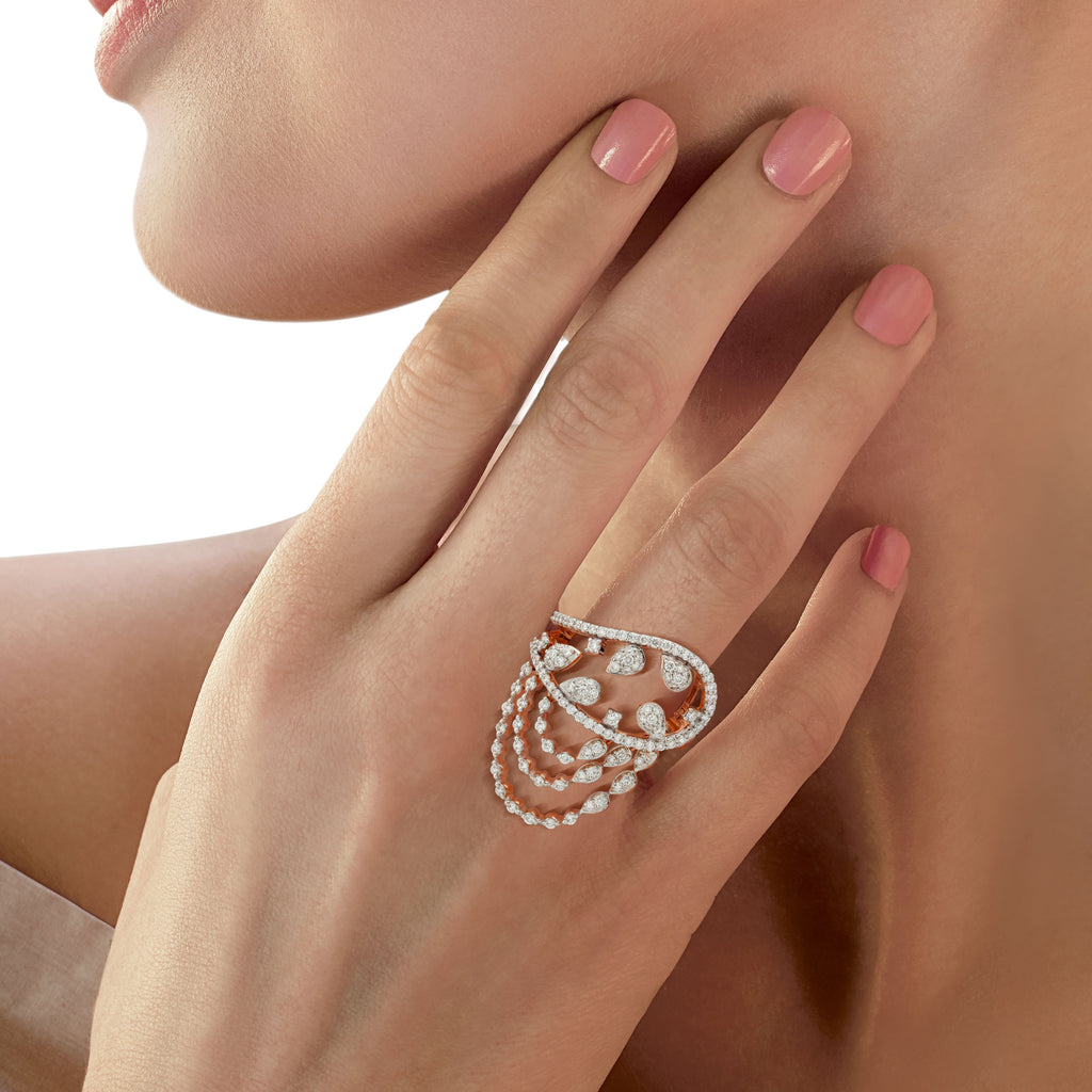Freeflowing Voyage Diamond Ring