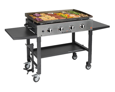 36'' Griddle Cooking Station (with Stainless Steel Front Plate)
