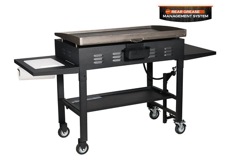 "36"" Griddle Cooking Station with Accessory Side Shelf"