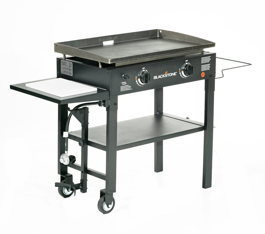 "28"" Griddle Cooking Station with Accessory Side Shelf"