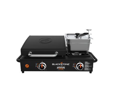"Adventure Ready 17"" Tabletop Griddle with Side Burner Stovetop"