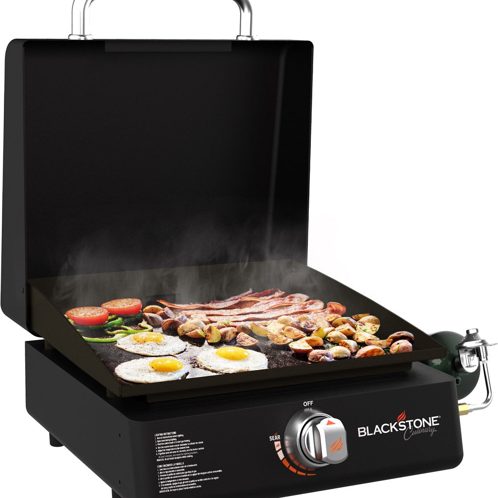 "Culinary 17"" Tabletop Griddle with Hood"