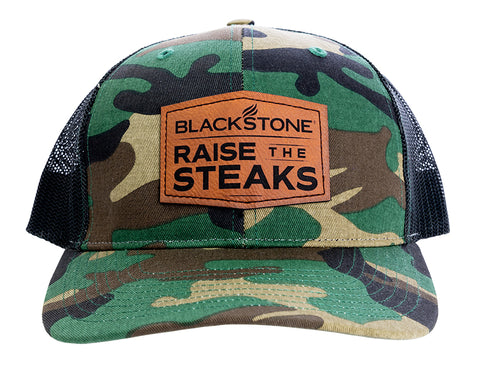 Raise the Steaks Leather Patch Hat