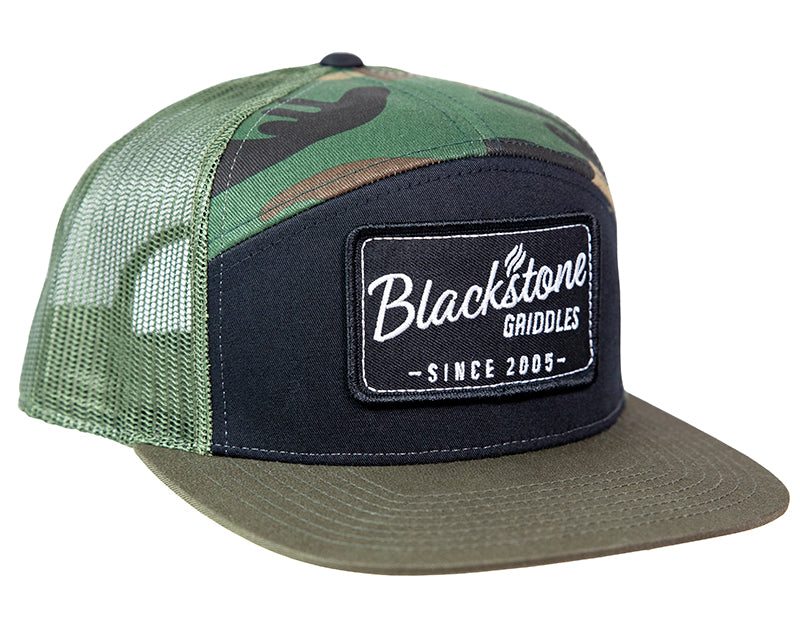Retro Patch 7 Panel Hat - Camo