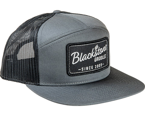 Retro Patch 7 Panel Hat - Charcoal