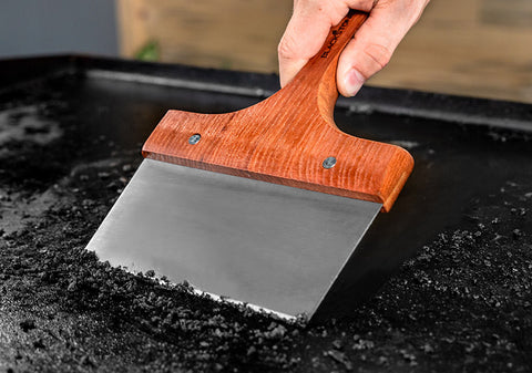 Griddle Scraper with Wood Handle