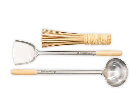Wok Spatula, Ladle & Cleaning Whisk Kit