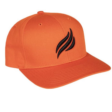 Blackstone Black Puff Embroidered Orange Flame Hat