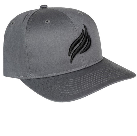 Blackstone Black Puff Embroidered Grey Flame Hat