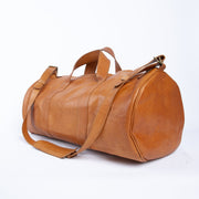 Vacaciones Tan Leather Duffel Bag