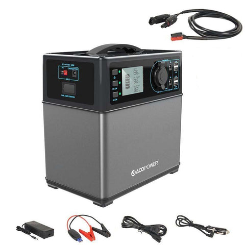 ACOPOWER 400Wh Solar Power Generator Kit