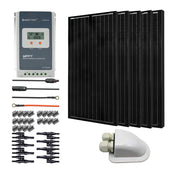 500 Watts All Black Monocrystalline Solar RV Kits