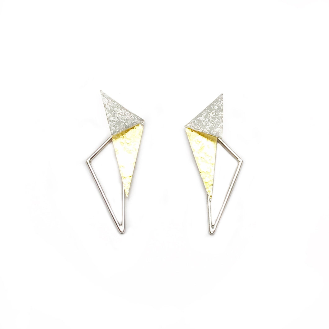 Combo Fold in / triangle earring + extra onderdeel