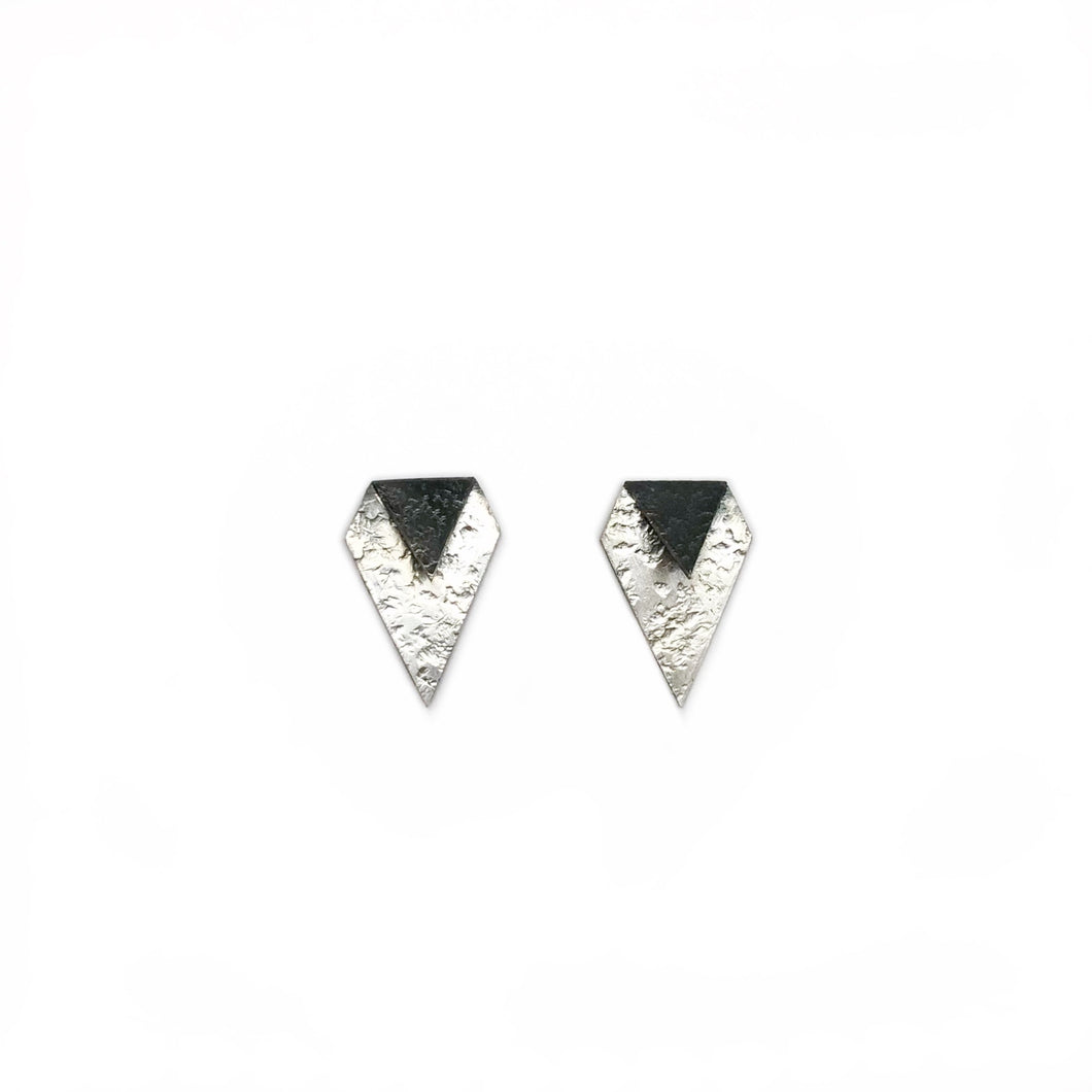 Fold in / diamond earring