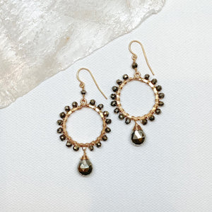 Pyrite Wrapped Earrings