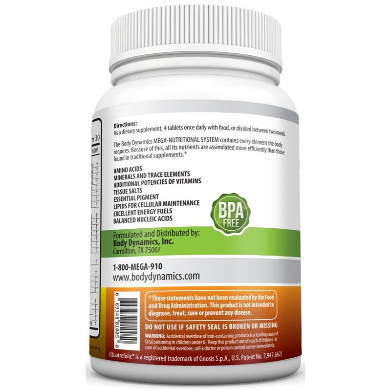 Raw Mega Nutritional Vitamins