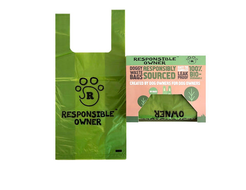 240 (3packs) 100% Bio-Degradable Dog Poop Bags