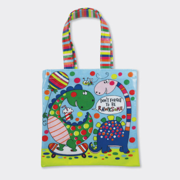 Dinosaur mini tote bag