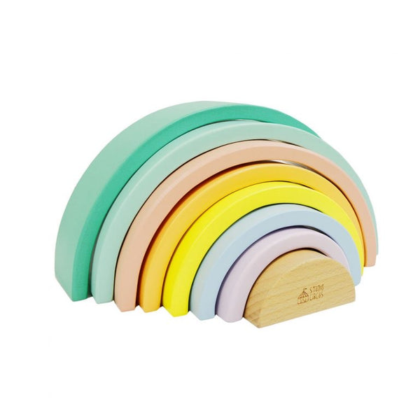 Pastel stacking Wooden Rainbow
