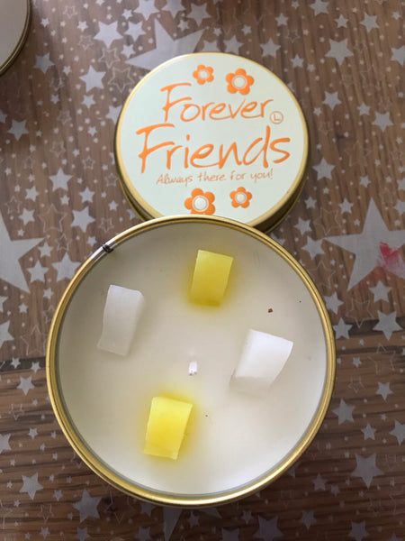 Forever Friends - lily flame tin candle