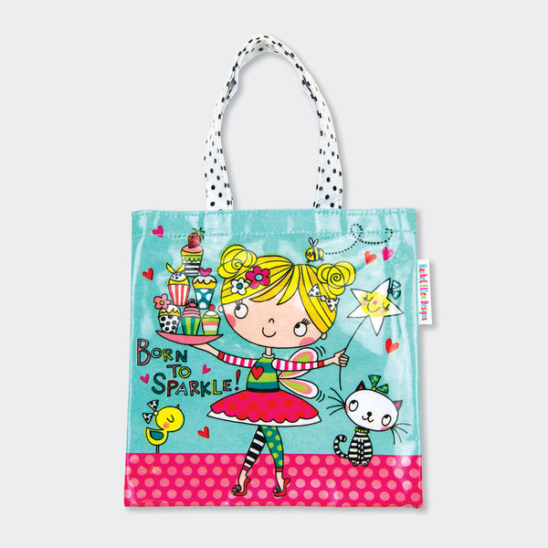Born to sparkle Children's mini tote bag - Rachel Ellen