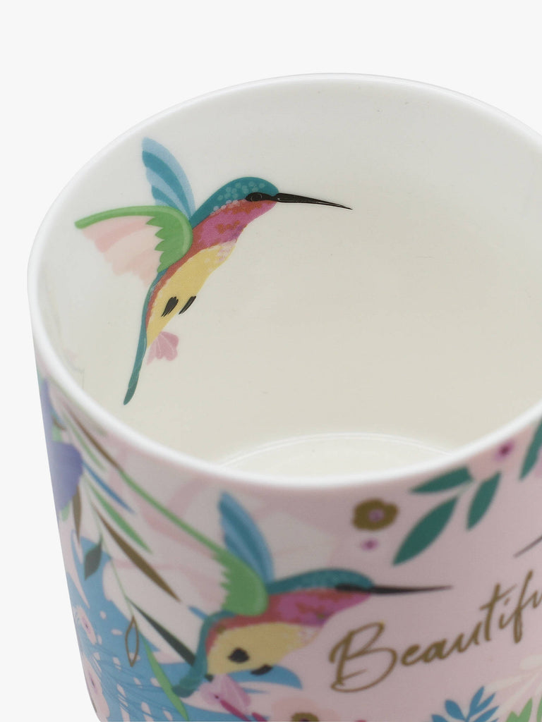 China mugs by Belly Button designs - hearts, hummingbirds, stripes