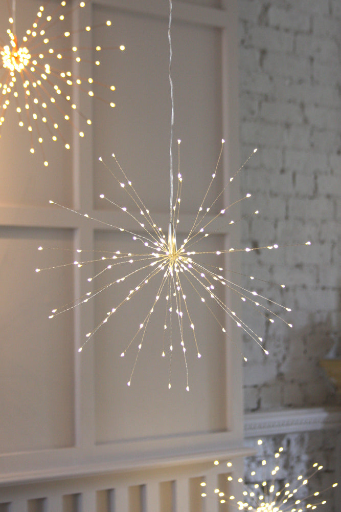 Silver starburst light