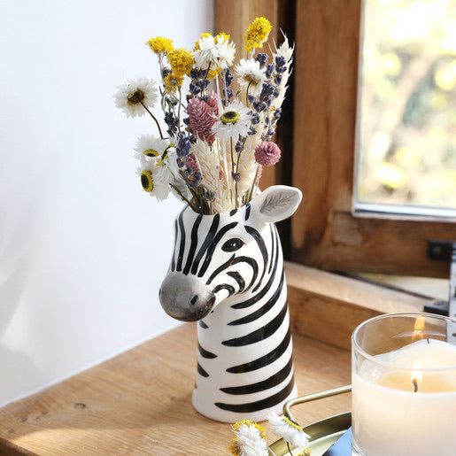 Ceramic Zebra head vase - Lisa Angel