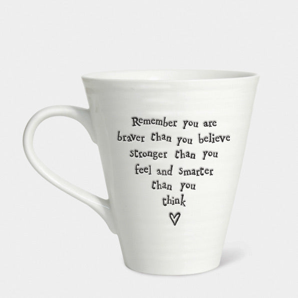 Porcelain Mug - Remember you are Braver - East of India