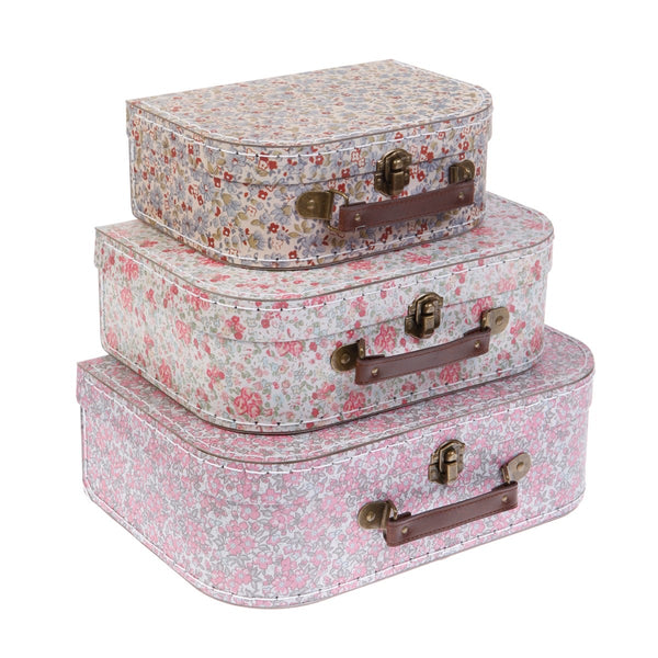 Vintage floral Suitcases - set of 3 - Sass & Belle
