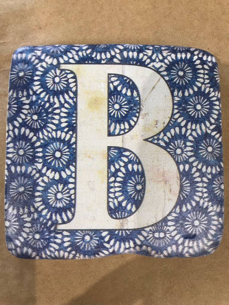 Alphabet coasters - ceramic - gifts