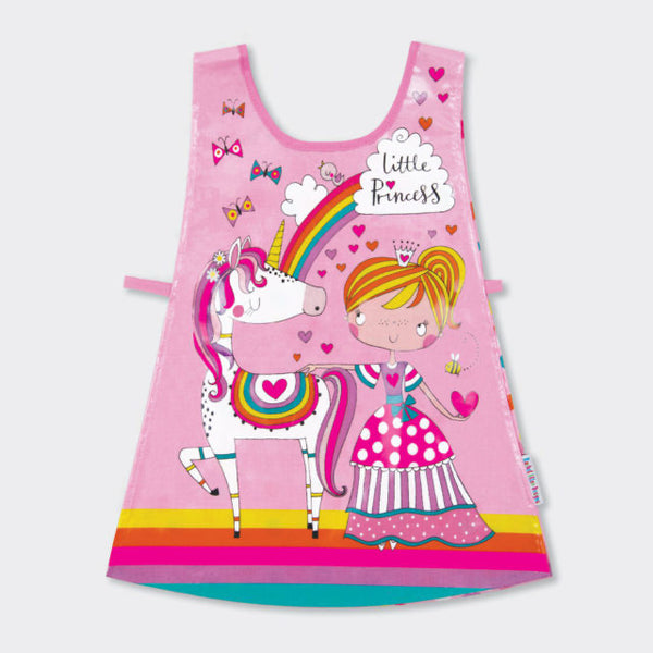 Children's tabard - Little Princess Unicorn & Rainbows - pink