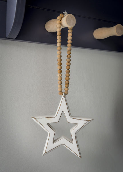 Bead & mango wood star