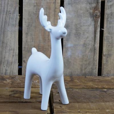 White long necked porcelain Reindeer