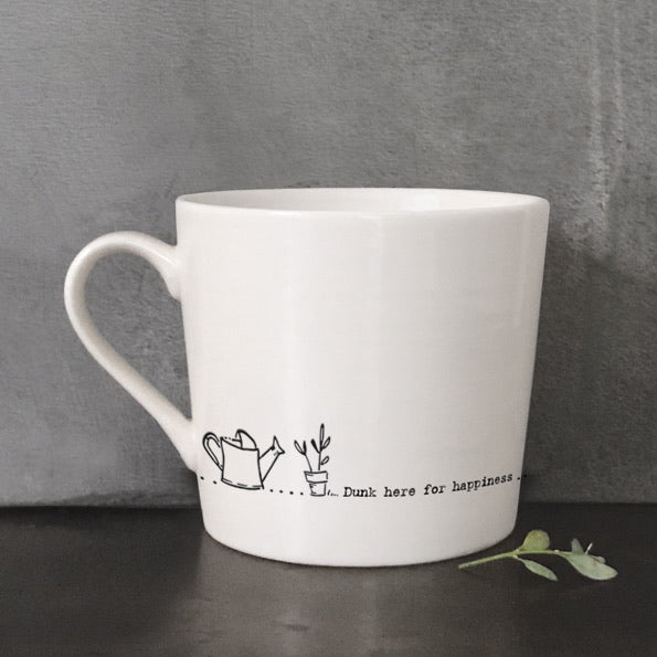 Porcelain Mug - Dunk here for happiness