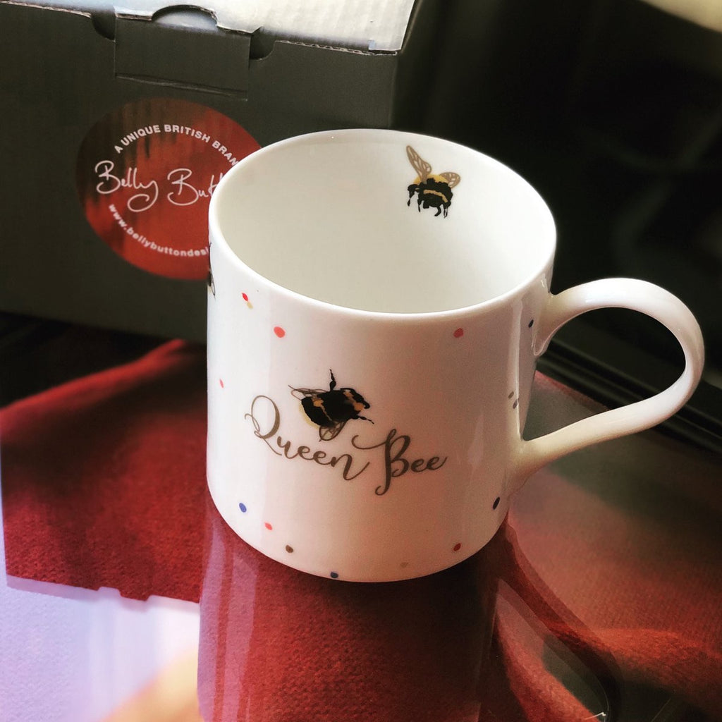 Queen Bee Porcelain Mug - Belly Button designs