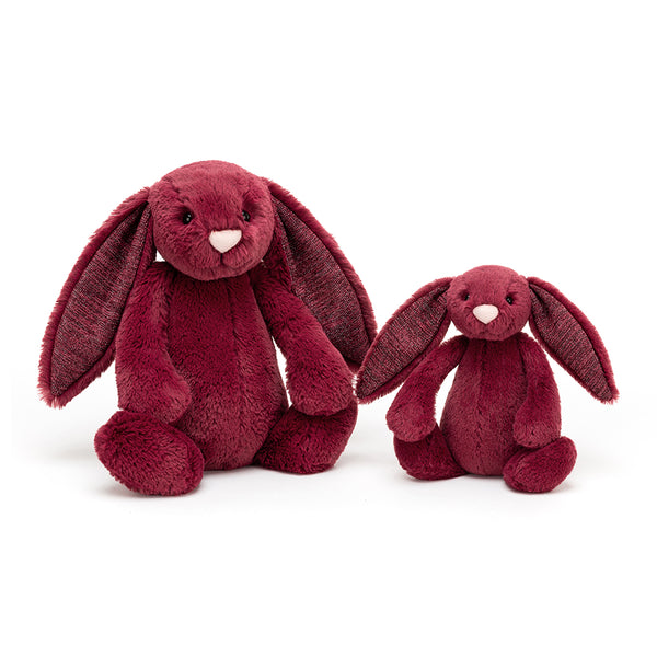 Jellycat sparkly cassis Bashful Bunny - Soft toy -Christmas