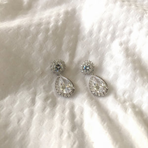 White Gold Reign Earrings