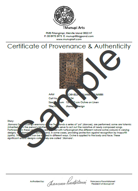 Certificate of Provenance & Authenticity