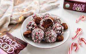 Perfect MadeGood Double Chocolate Peppermint Truffles