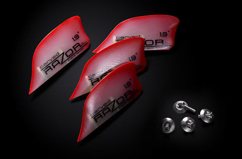 "G10 ""Razor"" Fins – for grip and agility."