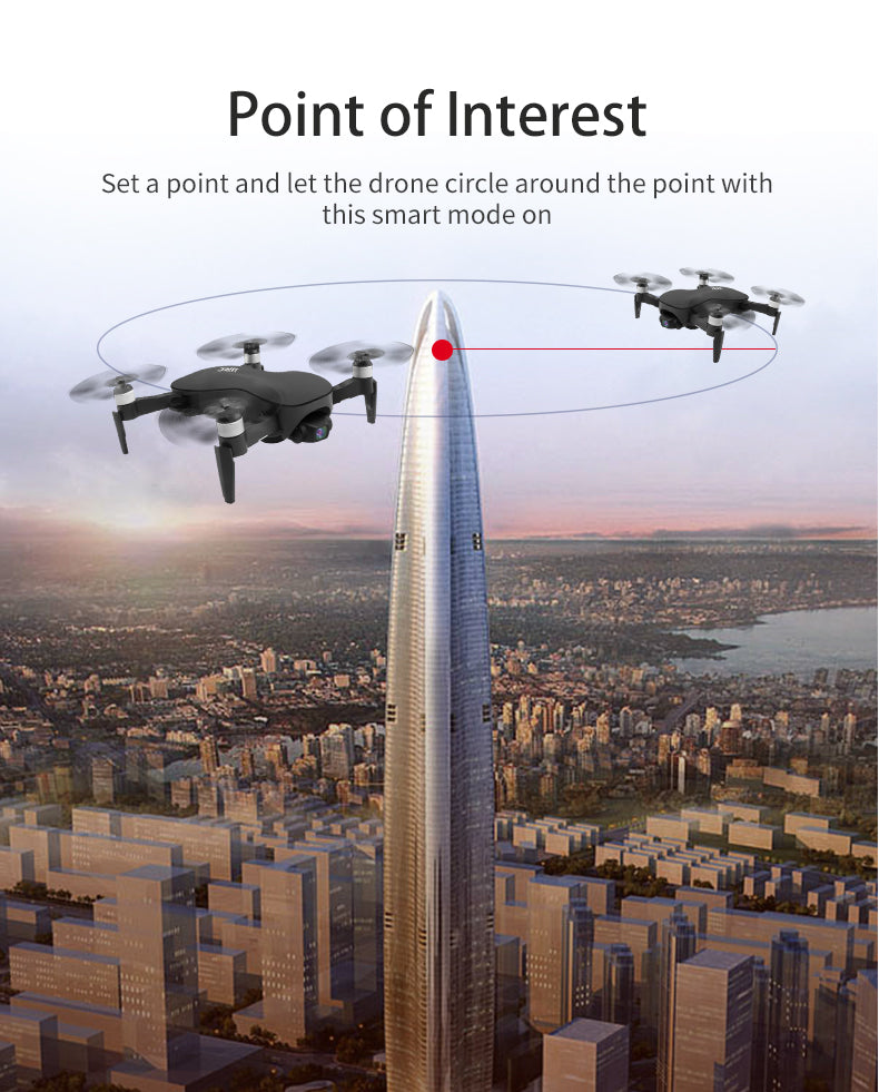 Point of Interest Set a point and let the drone circle around the point with this smart mode on