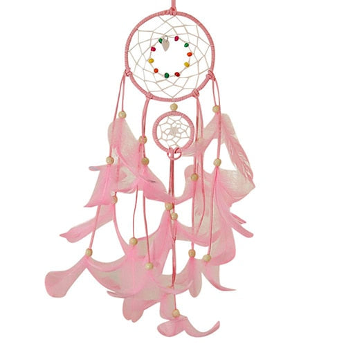 2 Meters Lighting Dream catcher hanging DIY 20 LED lamp Feather Crafts Wind Chimes