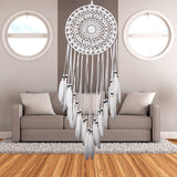 Dream Catcher Home Decor White Feather Dreamcatcher Wind Chimes  Wall Decoration 2020